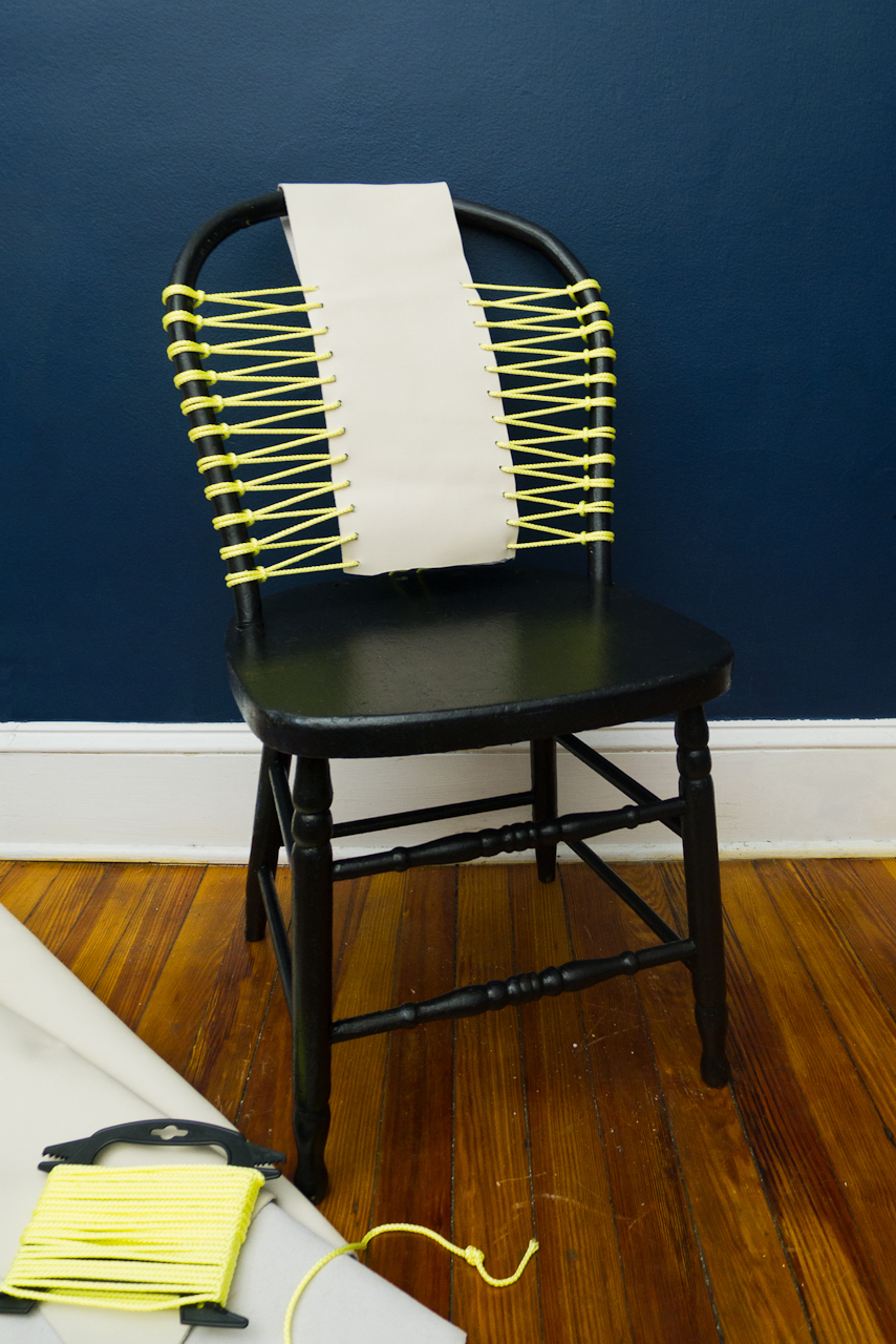 DIY rope and leather chair from Design Milk