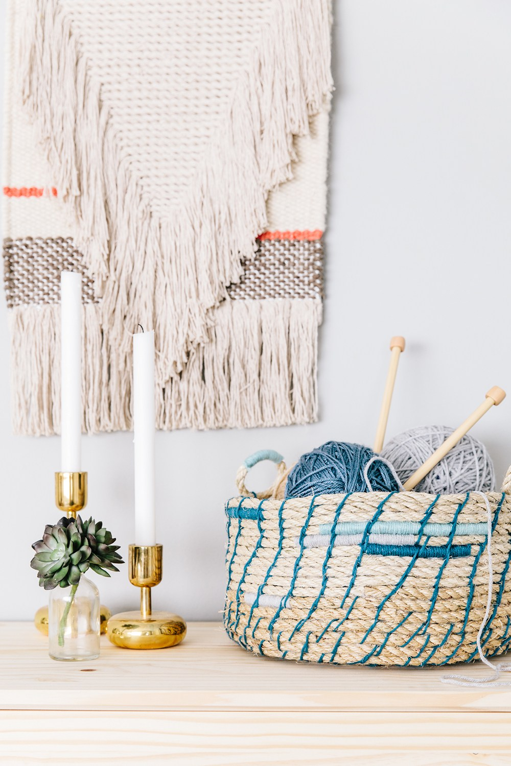 DIY rope basket from The House That Lars Built