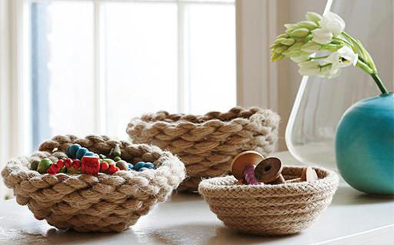 DIY rope bowls from Rogue Habits