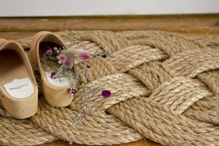 DIY rope doormat