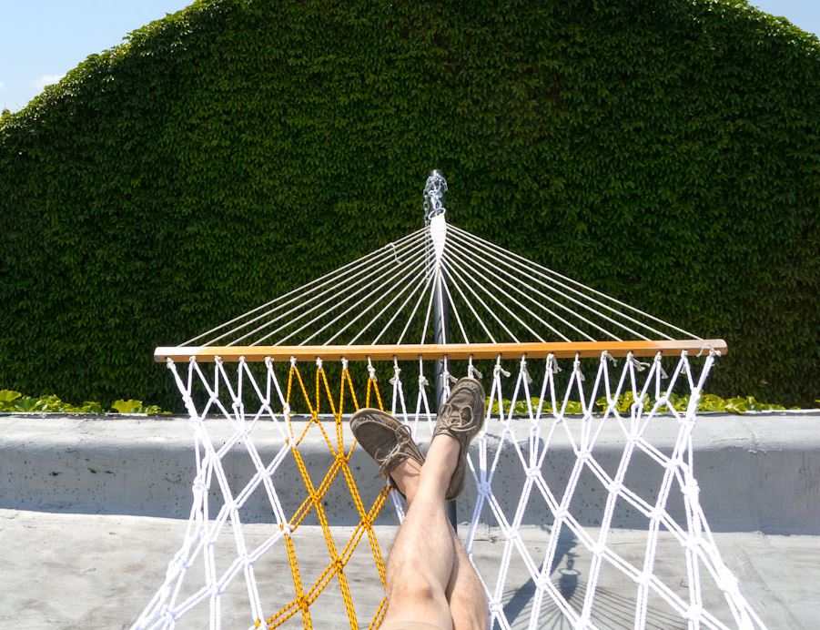 DIY rope hammock from Design Milk