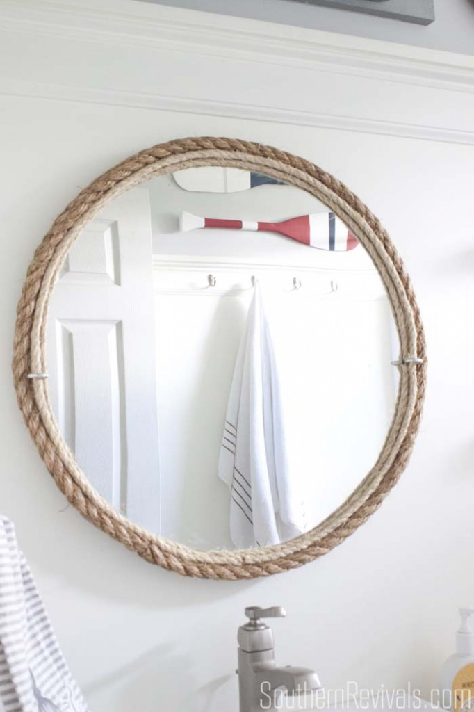 DIY rope mirror from Southern Revivals