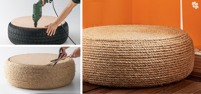 View In Gallery Diy Rope Ottoman From For Life