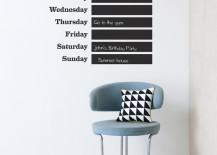 Days of the week wallstickers from ferm LIVING 217x155 20 Creative Calendar Designs