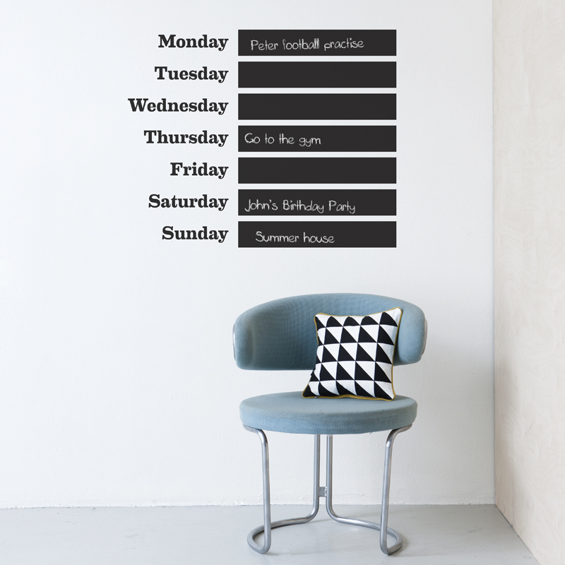 Days of the week wallstickers from ferm LIVING