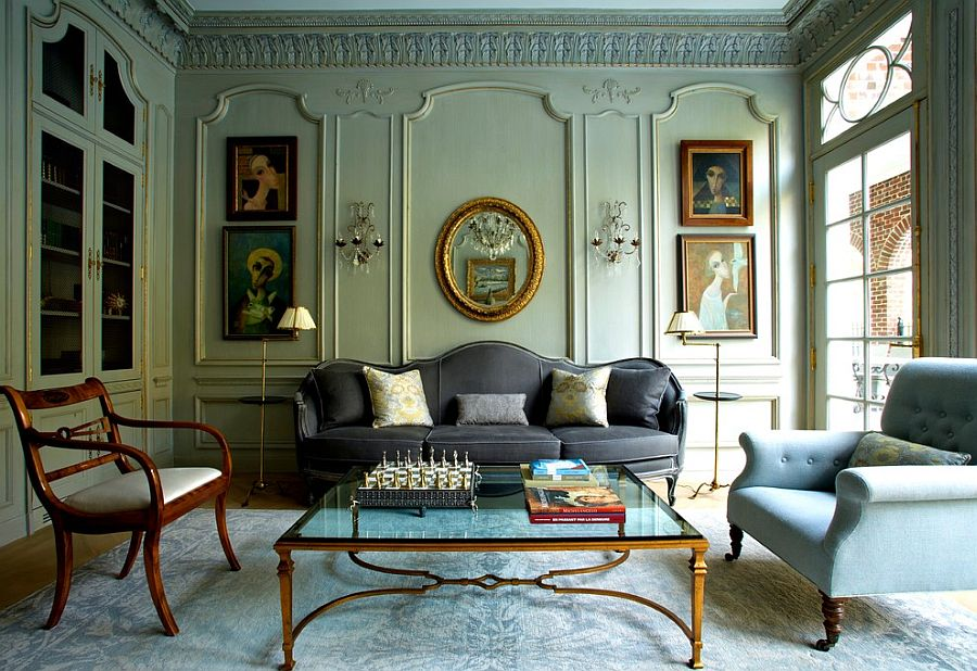 Traditional wall decor ideas living room victorian with ...