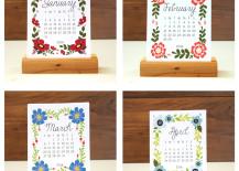Desk calendar from Etsy shop KTF Design