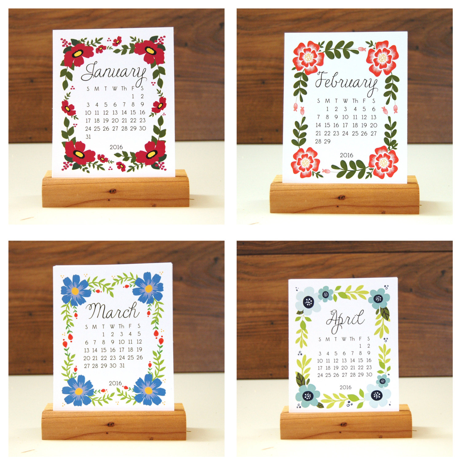 Desk calendar from Etsy shop KTF Design