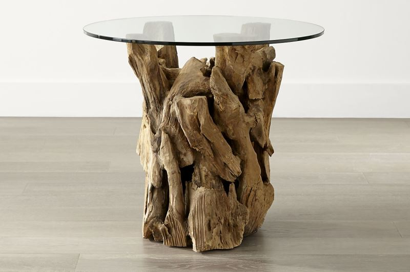 Driftwood table from Crate & Barrel