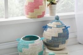 Earthy patterned baskets from West Elm