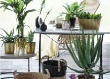 Earthy, tropical decor from H&M Home