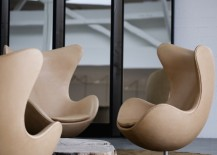 Egg chairs in leather 217x155 Design Icon: The Egg™ Chair
