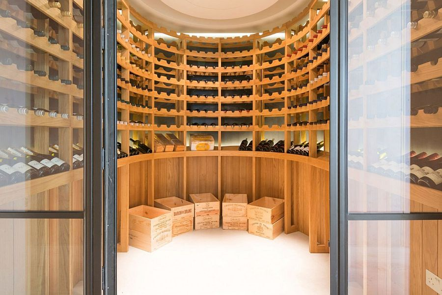 Excluisve wine cellar in the basement of the London home