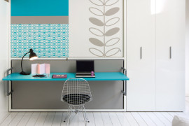 Eye-catching wall bed desk