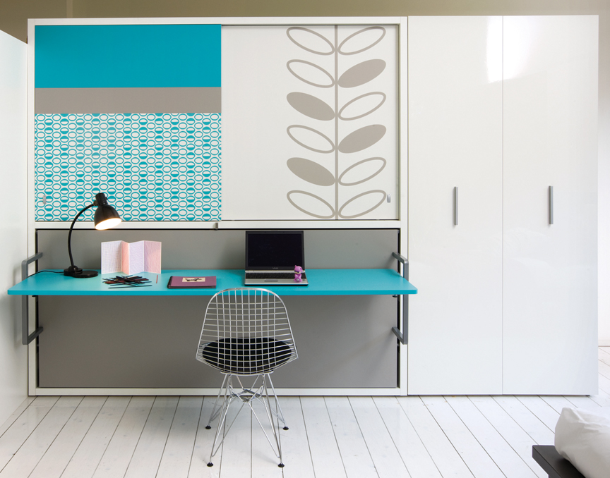 View In Gallery Eye Catching Wall Bed Desk