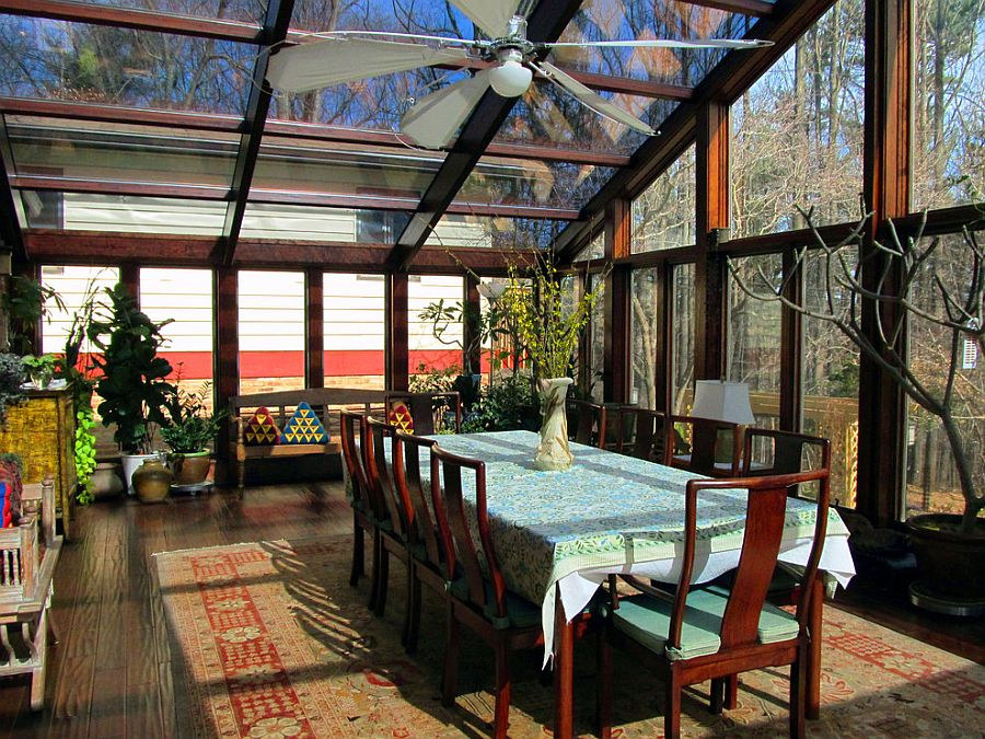 Fabulous Asian sunroom that is all about glass [Design: Maryland Sunrooms]