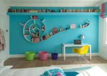 Fabulous Bookworm bookshelf in the modern kids' room