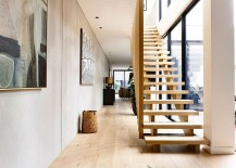 Fabulous crafted timber stairs leads to the top level
