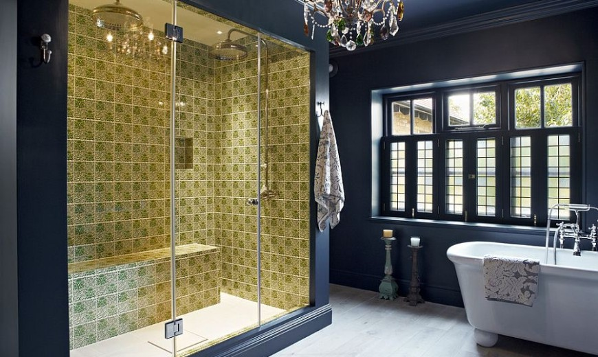 Marvelous Trendy Twist To A Timeless Color Scheme: Bathrooms In Blue And Yellow