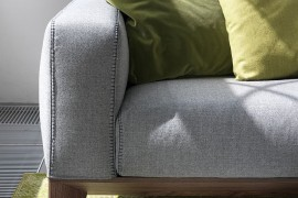 Fellow sofa can be customized in a frabric finish of your choice