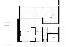 Floor plan of the extended English home in Winchester, Hampshire
