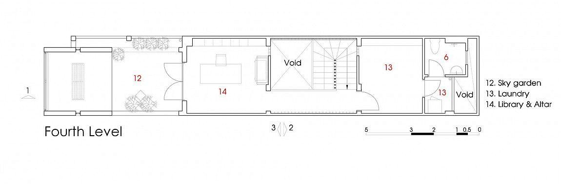 Floor plan of the roof garden level