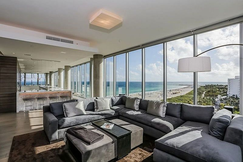 penthouse furniture. View In Gallery Floor-to-ceiling Glass Windows Open Up The Penthouse To Beach Life Outside Furniture