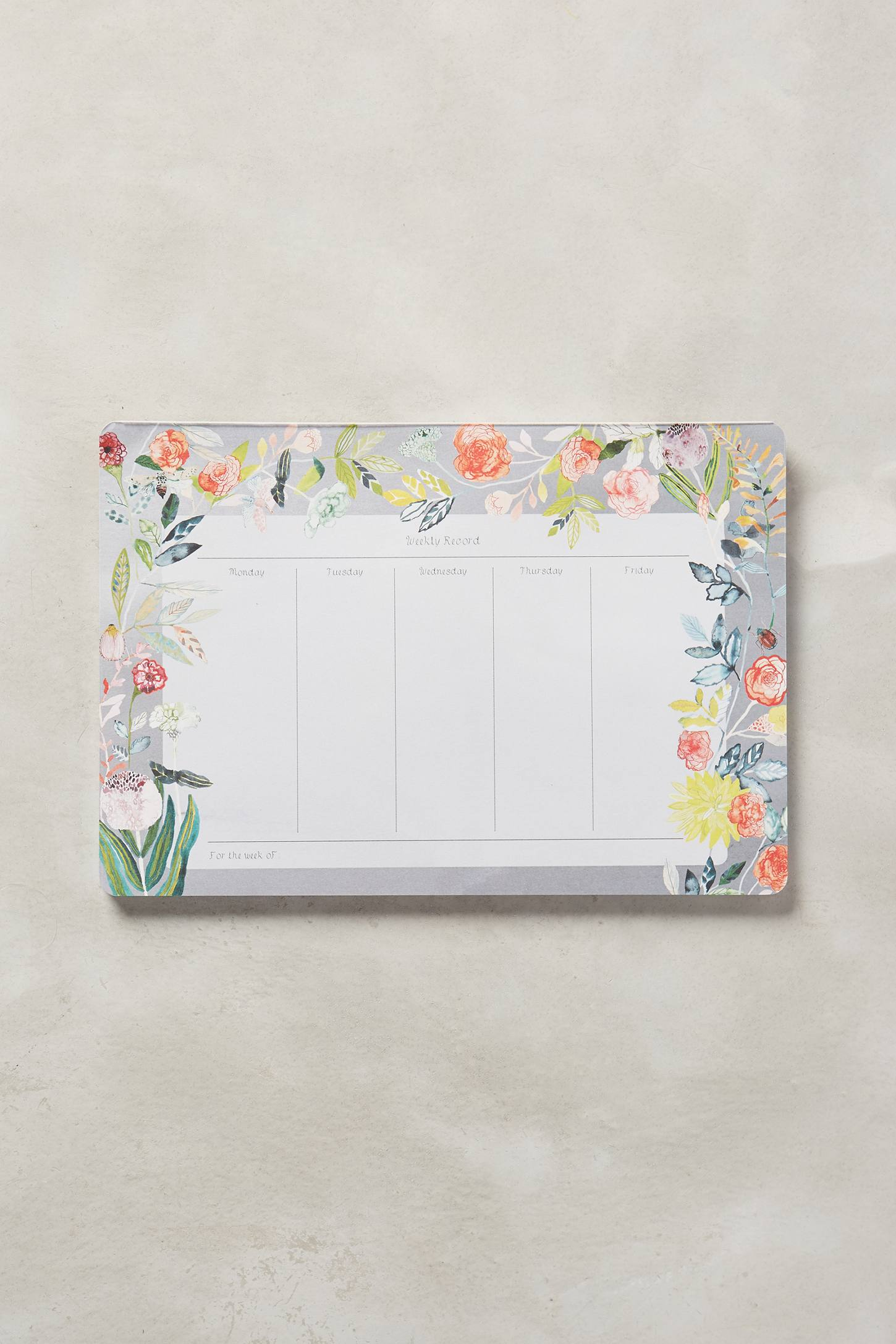 Floral mouse pad calendar from Anthropologie