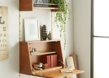 Fold-down desk from West Elm