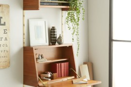 Fold-down desk from West Elm