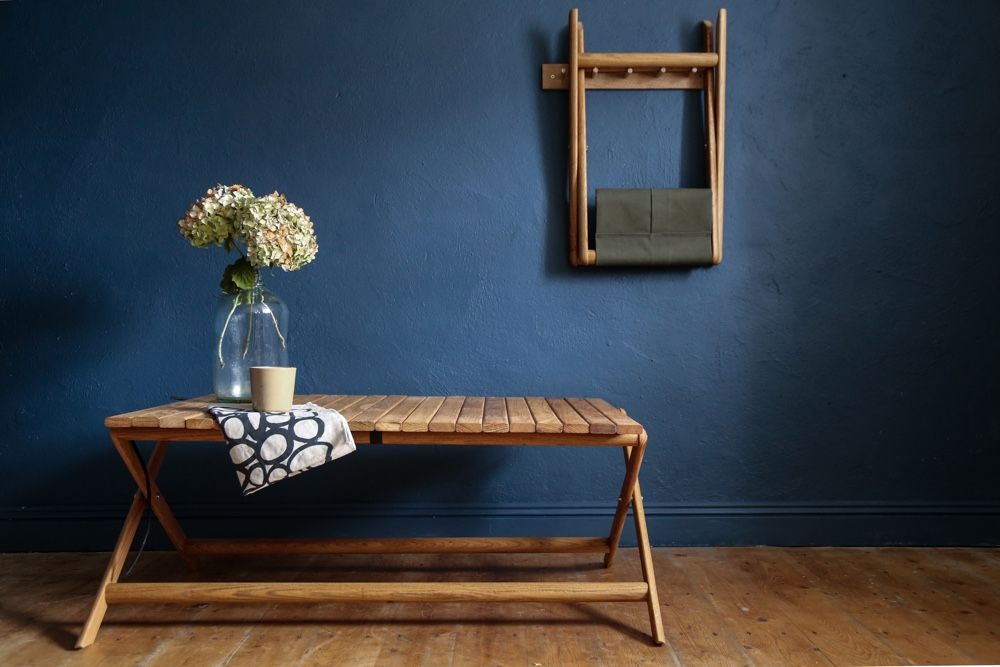 Folding Table and Folding Canvas Stool