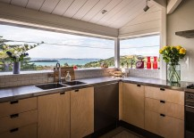 Frame those ocean views to perfection with a window above the kitchen counter