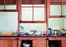 Fun and casual way to showcase your china even while creating an organized kitchen and dining