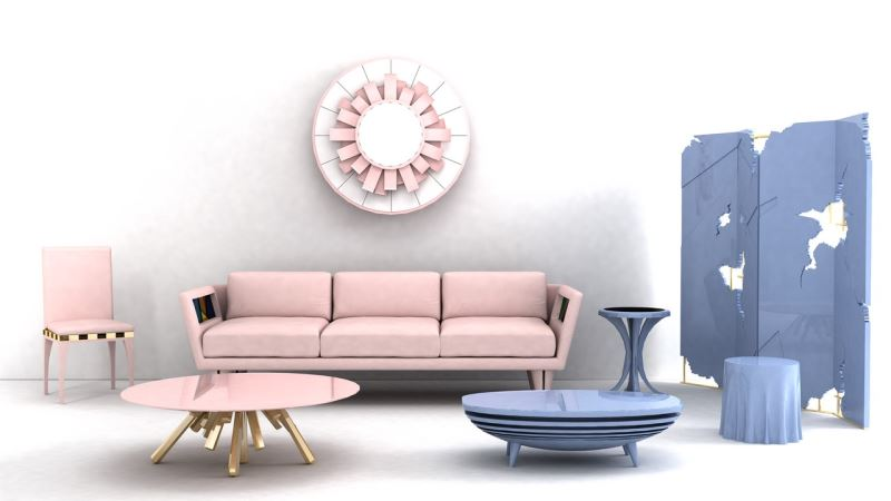 Furniture and Accessories from Bittangra Pantone Style: More Rose Quartz and Serenity Decor Ideas