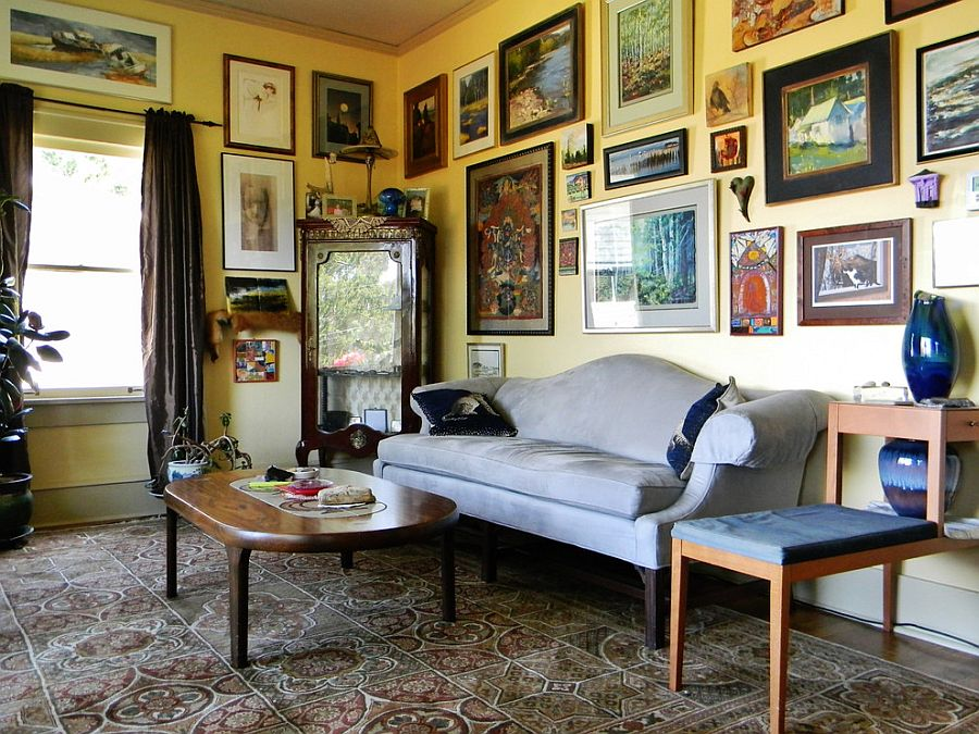 ... Gallery Wall With Classic Prints Is A Great Choice For The Classy Victorian  Style Interior [ Good Looking