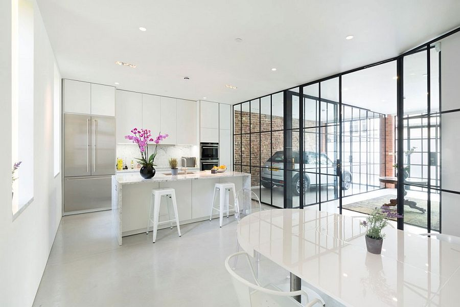 Garage on the ground floor becomes a part of the interior