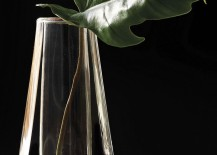 Geometric glass vase from CB2 217x155 20 Modern Vases with Sleek Style