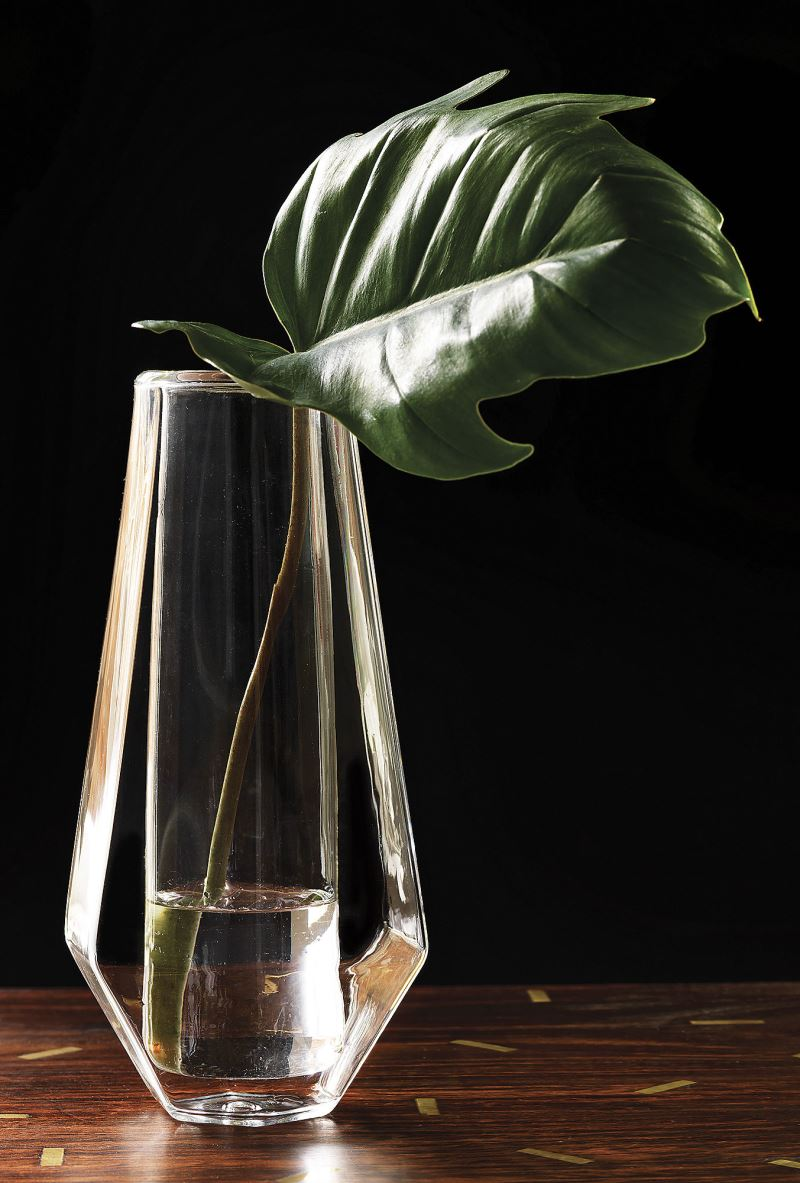 Geometric glass vase from CB2