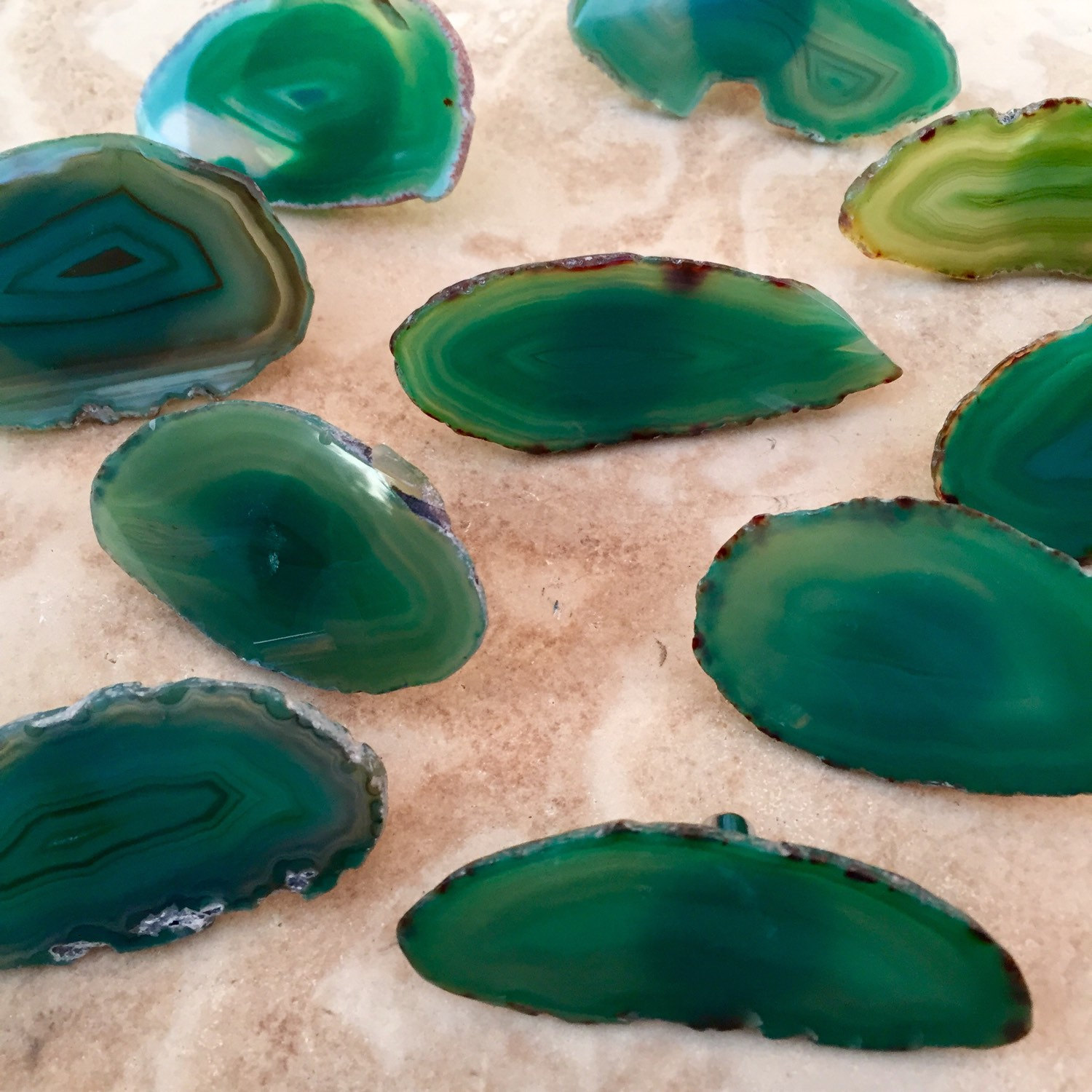 Green agate drawer pulls from Rocks4ACause