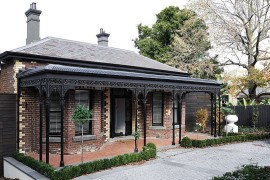 Heritage street facade of the Victorian home is left iunchaged despite the modern makeover