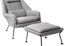 Heron chair and footstool