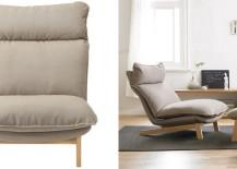 High-back reclining chair from Muji