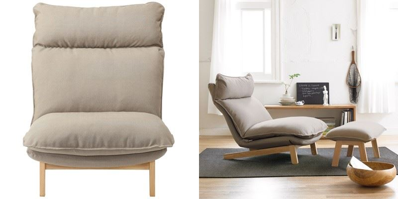 High-back reclining chair from Muji