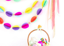 Honeycomb Easter egg garland from Oh Happy Day