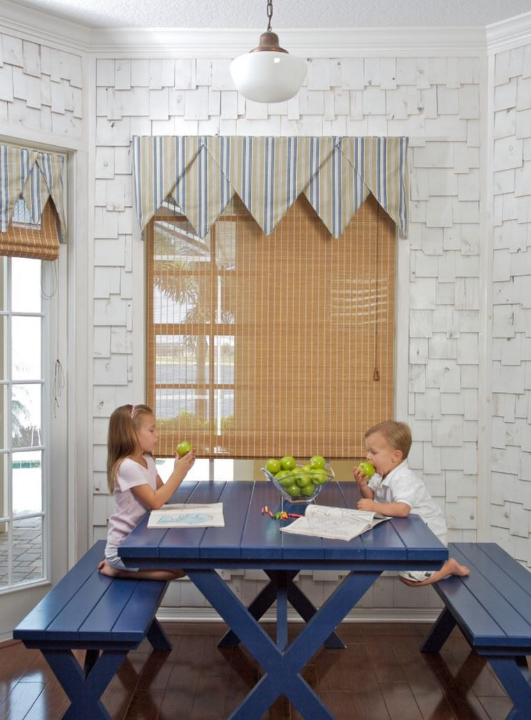 Indoor picnic tables are kid-friendly