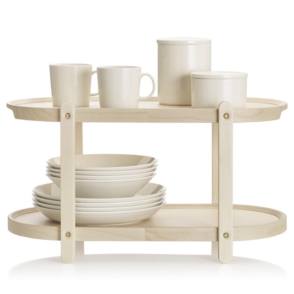 Kerros shelf with Teema group white
