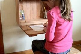Kids' fold-down desk from Etsy shop Kentucky Reclaimed