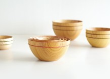 Lacquered Wooden Tableware