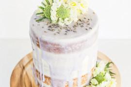 Lavender glazed cake from Paper & Stitch