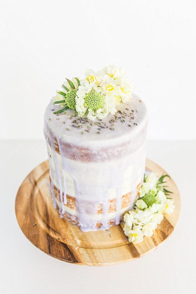 Lavender glazed cake from Paper & Stitch